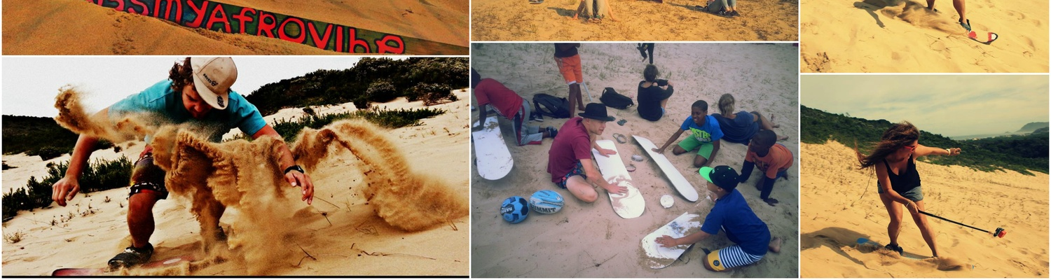 Sand boarding in Sedgefield